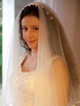 Questa sono io con l'acconciatura che ho scelto per le mie nozze